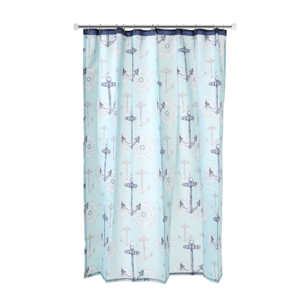 Hosh Anchor Printed Fabric Shower Curtain 70 X 72in