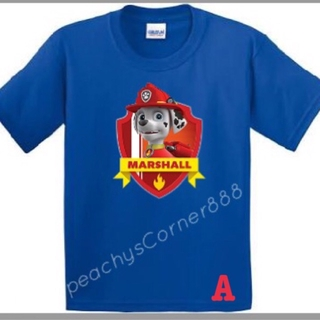 sale retailer new concept diversified in packaging Paw Patrol ( Marshall ) Customized t-shirts for kids