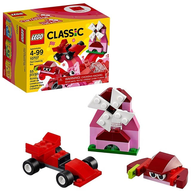 Creativity Lego Kit 10707 Red Building Box Classic SqVGzpUM