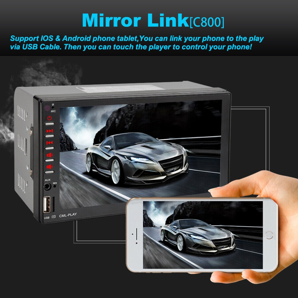 XGODY 7703 7Inch 2 DIN Car MP5 Player Touch Screen Stereo