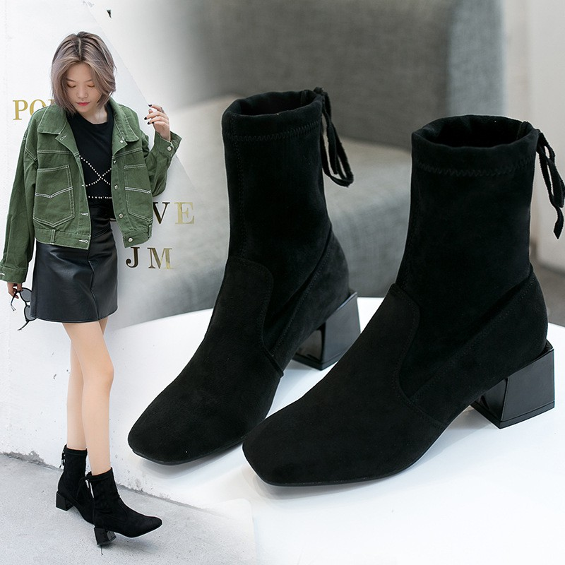 top fashion buying new official shop autumn and winter new female boots tide fashion warm non-sli ...