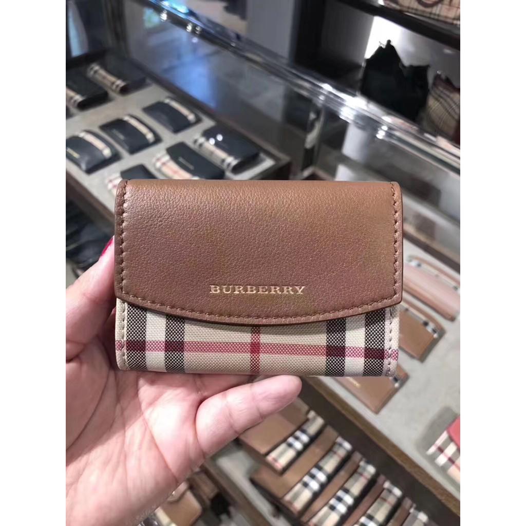 burberry folding wallet