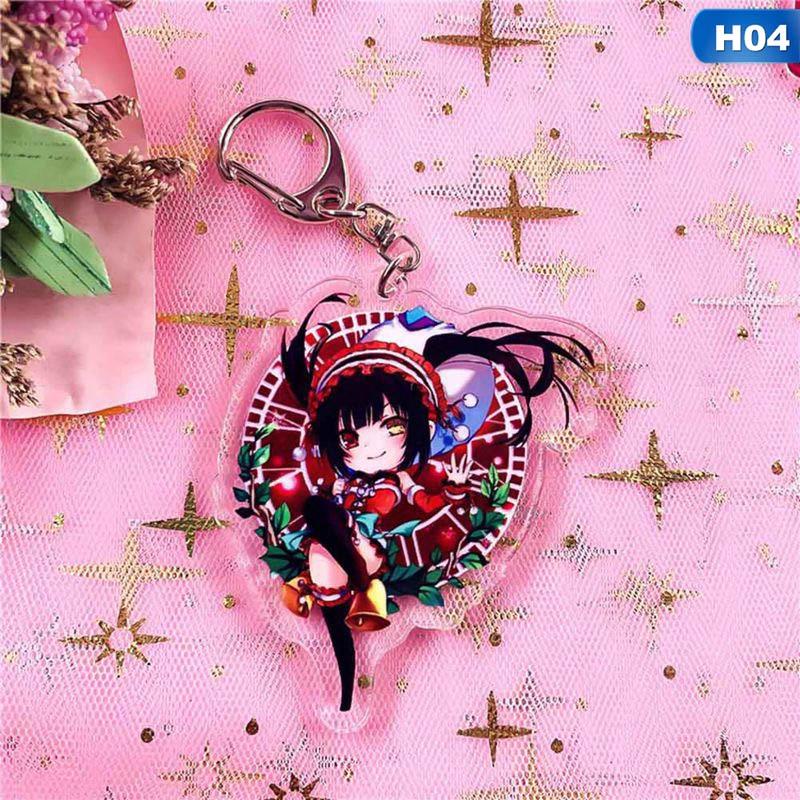 Anime Date A Live Tohka Yatogami Yoshino Tokisaki Keychain Keyring Cute Pendant