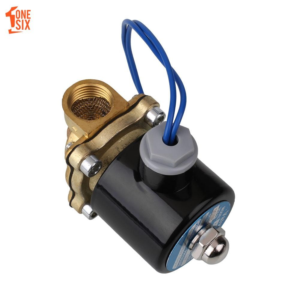 ONS 1/2 Inch Electric Solenoid Valve 12V DC for Air Water Gas FKM/VITON N/C  B21V