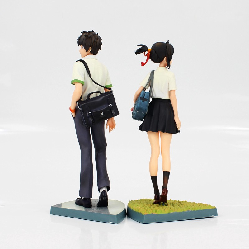 2pcs Set Your Name Kimi no Na wa Miyamizu Mitsuha Tachibana Taki Figure New 23cm