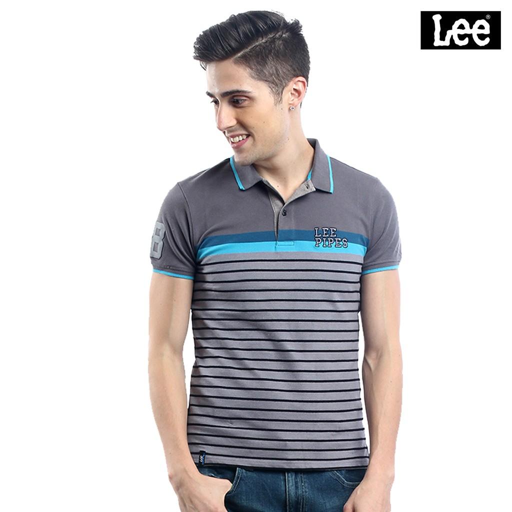 e7cb0cdb0d Lee Pipes Men s Basic Polo Sport Shirt (Peacoat)