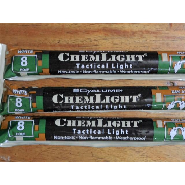 "8 White Cyalume USA 6/"" SnapLight Industrial Lightsticks Emergency Safety Glow"