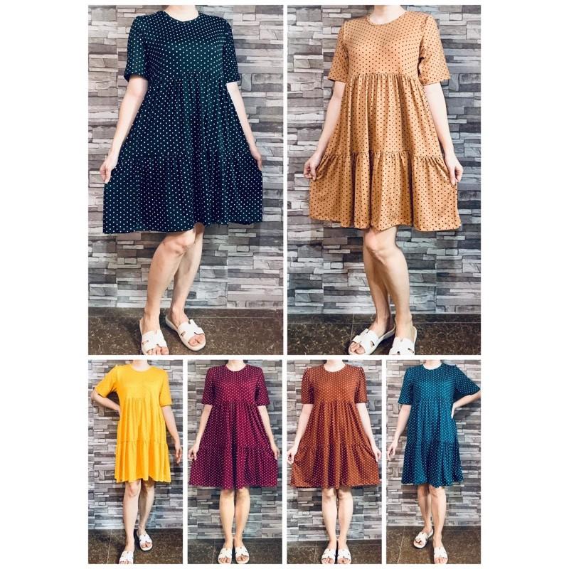 SULIT Korean Big Size Dress Ruffles Plus Size Pambahay or Pangalis