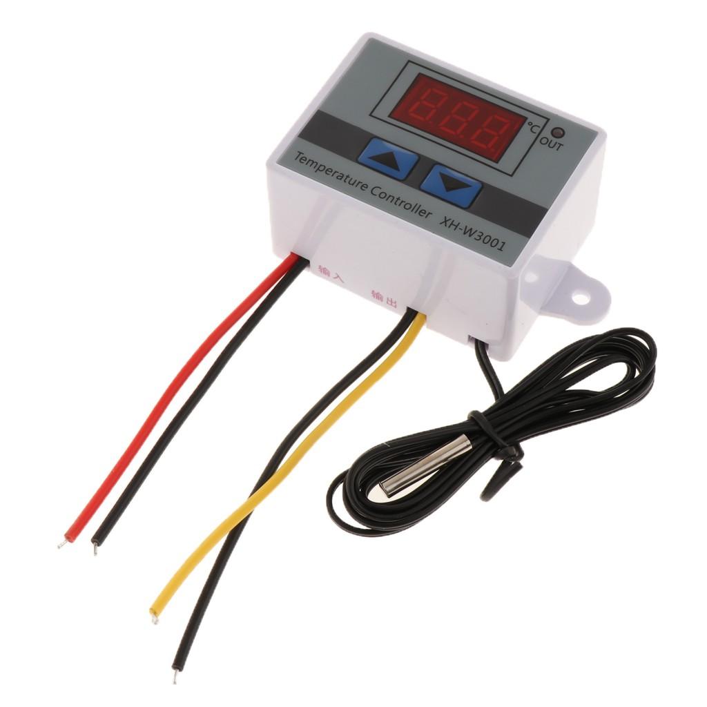 12//24//220V Digital LED Temperaturregler Controller 10A Thermostat Switch Sonde
