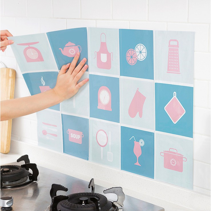 Ready Stock Easy To Clean Anti Oil Wallpaper Tiles Self Adhesive Wall Paper Sticker For Kitchen Wall Protector Shopee Philippines