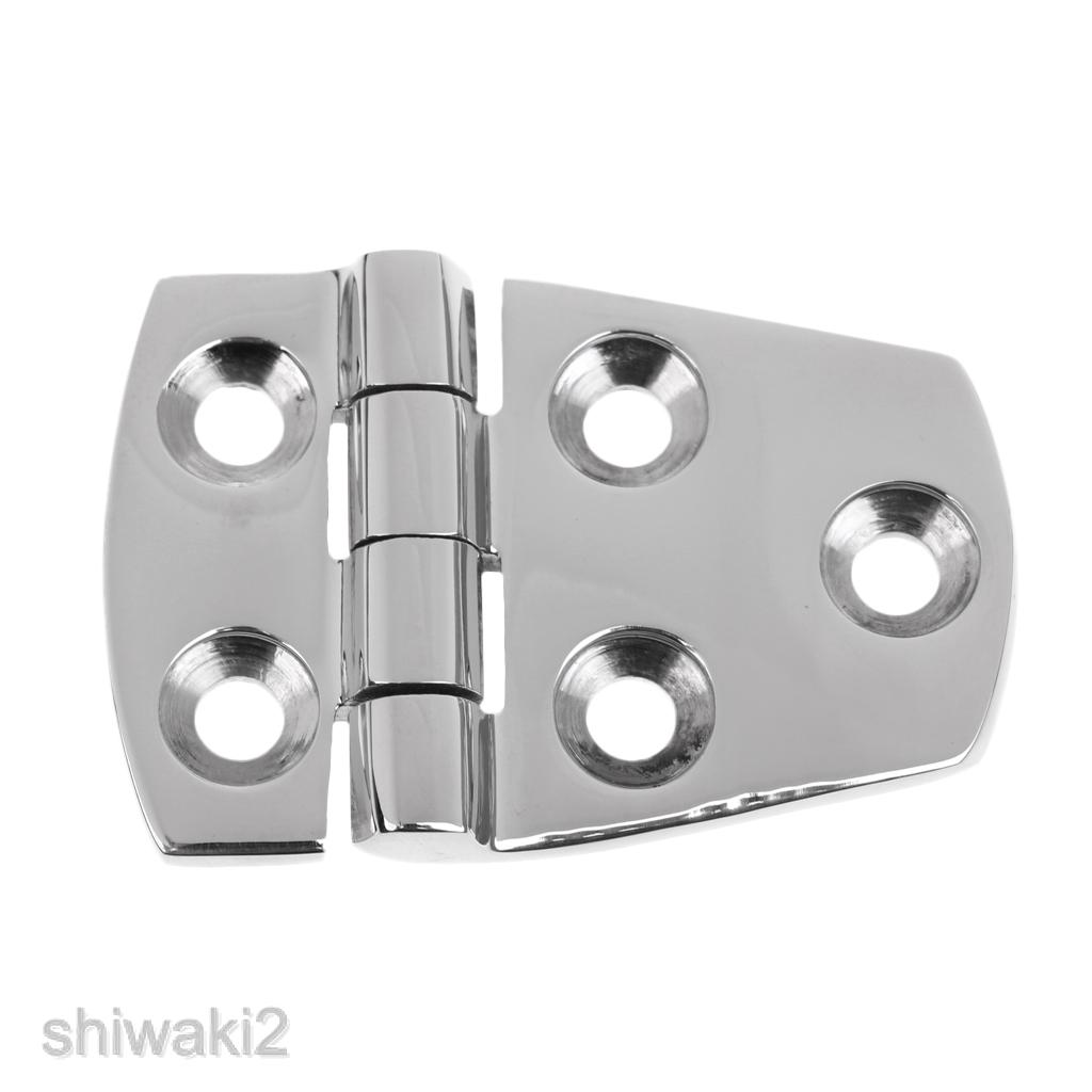 2x Stainless Steel Short Side Door Hinge Hardware for Boat Hatch Door Cabin