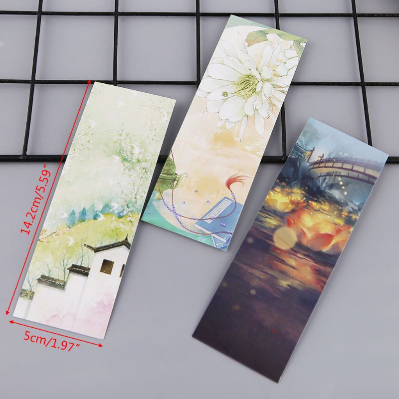 1 Box Of 30 Qingge Line Paper Bookmarks Shopee Philippines
