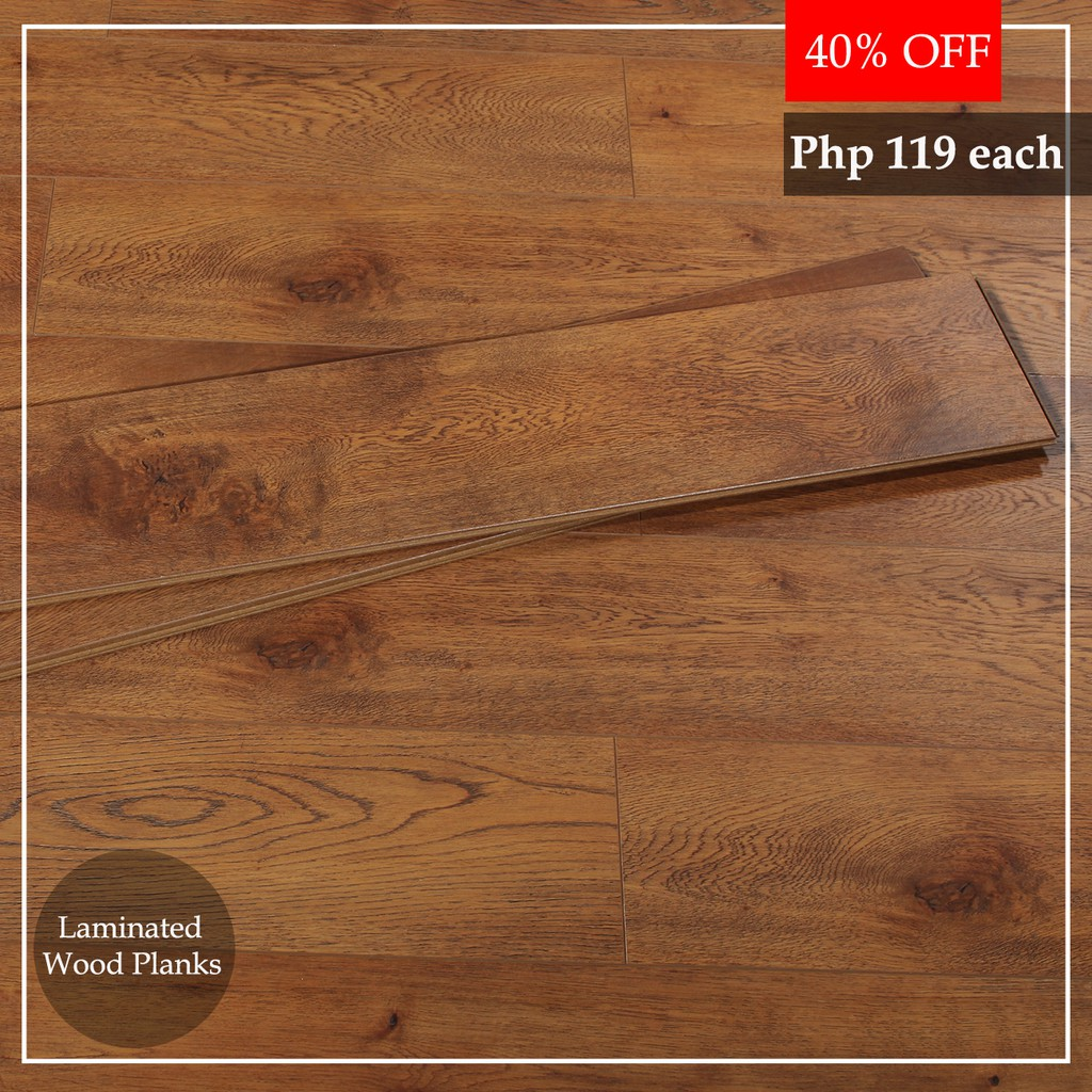 Wood Tiles Laminated Dark Brown Pc Shopee Philippines