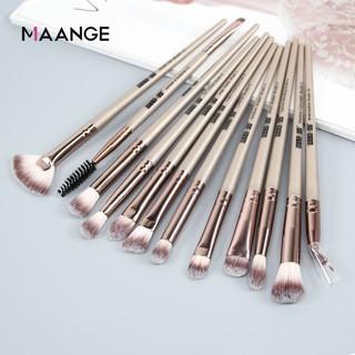 maange 12pcs makeup brushes set eyeshadow eyelash eye
