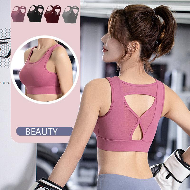 Vest-style sports underwear women shockproof running
