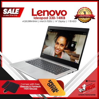 Lenovo Ideapad 330-14IKB Laptop with Free Sleeves and Mouse