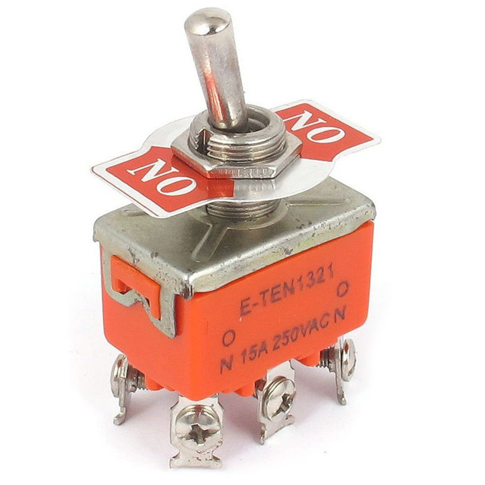 5 Pcs 2-position On-on Dpdt Self-locking Toggle Switch Ac 250v 15a 1321 Fan Parts