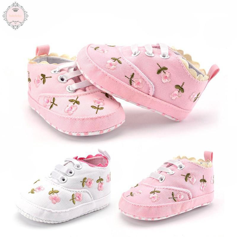 a7bd7220a6a5b Fashion Newborn Child Girl Flower Shoes Crib Shoes