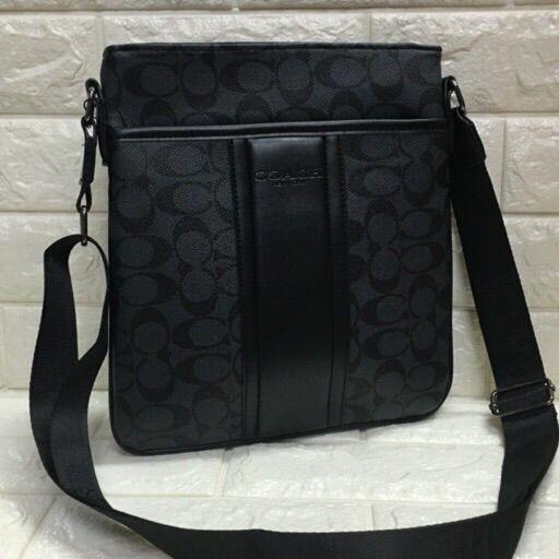 517607e524 Genuine Leather Coach Sling Bag for Men