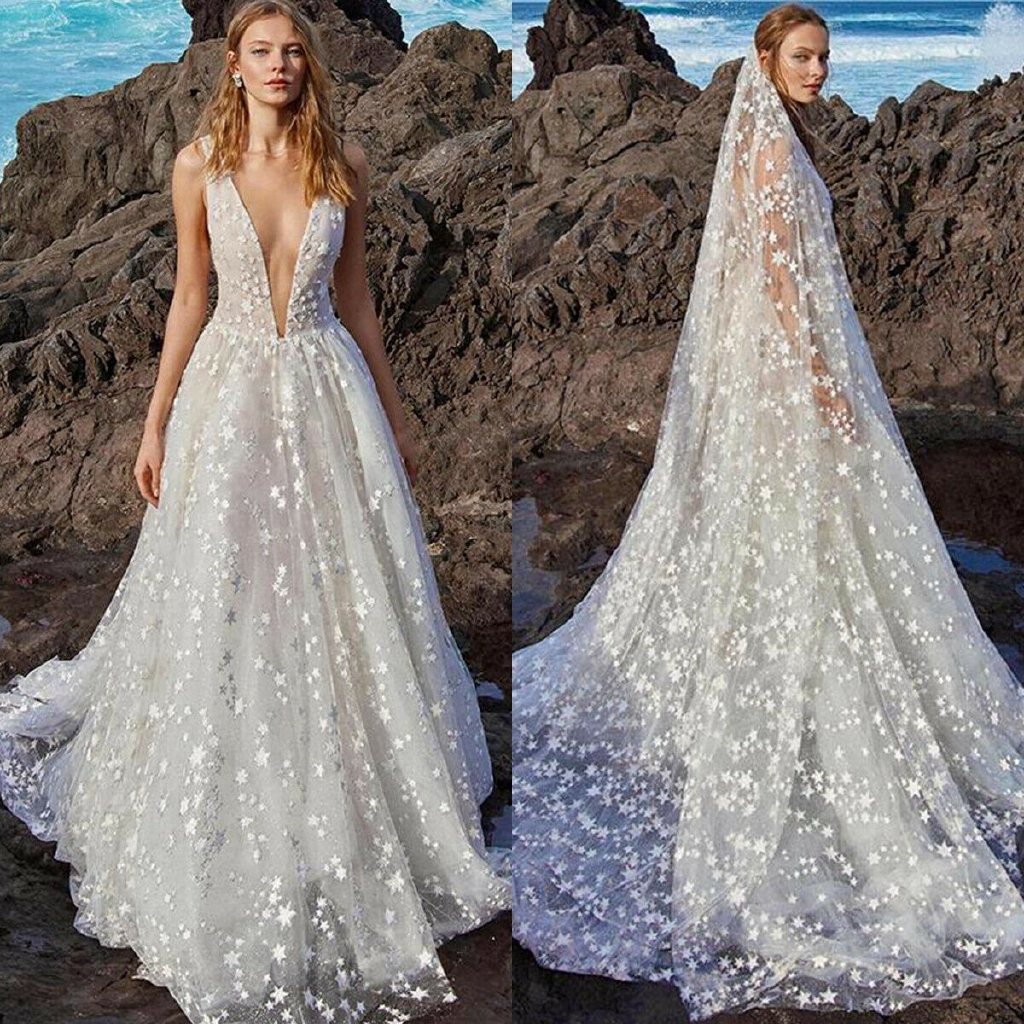 White Maxi Dress Wedding Gown V Neck Backless Cocktail Party Shopee Philippines,Wedding Dress Shops In Miami