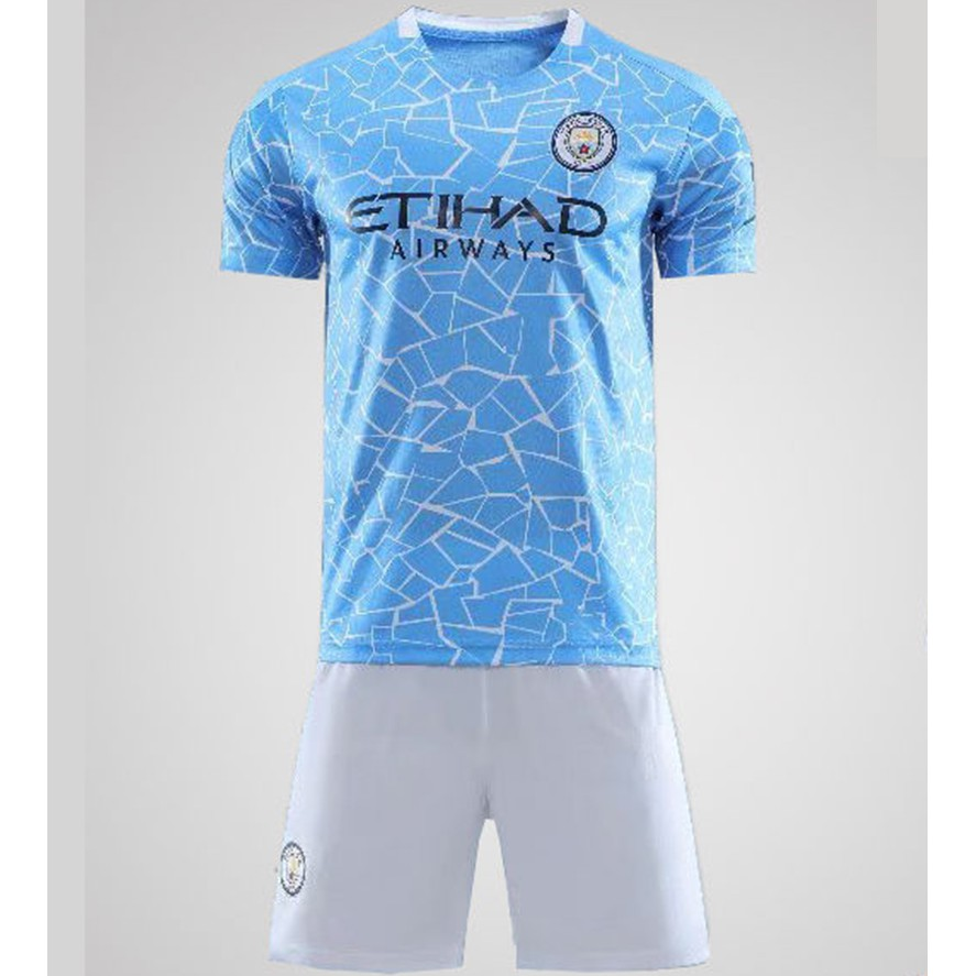 2020 2021 Manchester City F C Home Jersey Soccer Wear Sets Soccer Jersey For Child Or Adult Shopee Philippines