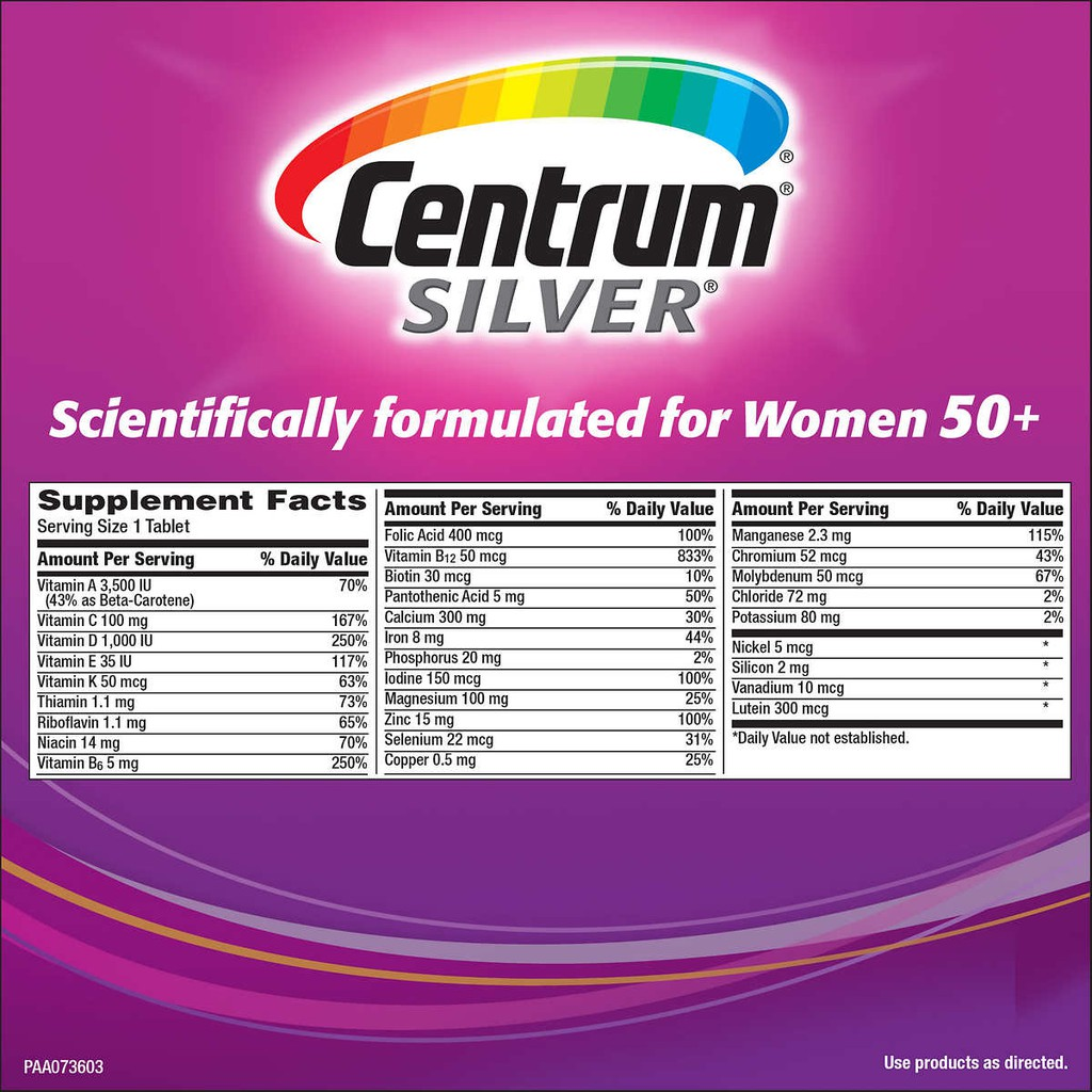 Centrum Silver Women 50+ / 30 Tablets