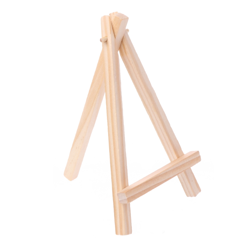 5pcs Mini Wooden Kid Easel Painting Tripod Wedding Card Stand Display Holder