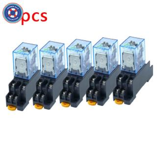 12V DC Coil Power Relay LY2NJ DPDT 8Pin HH62P JQX-13F With Socket Base WYS Sales