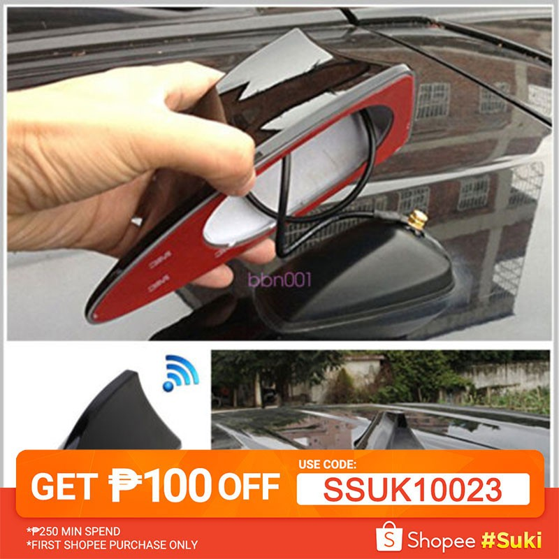 Audio & Video Accessories Universal Auto Car Shark Fin Roof Antenna Aerial AM/FM Radio Decorate