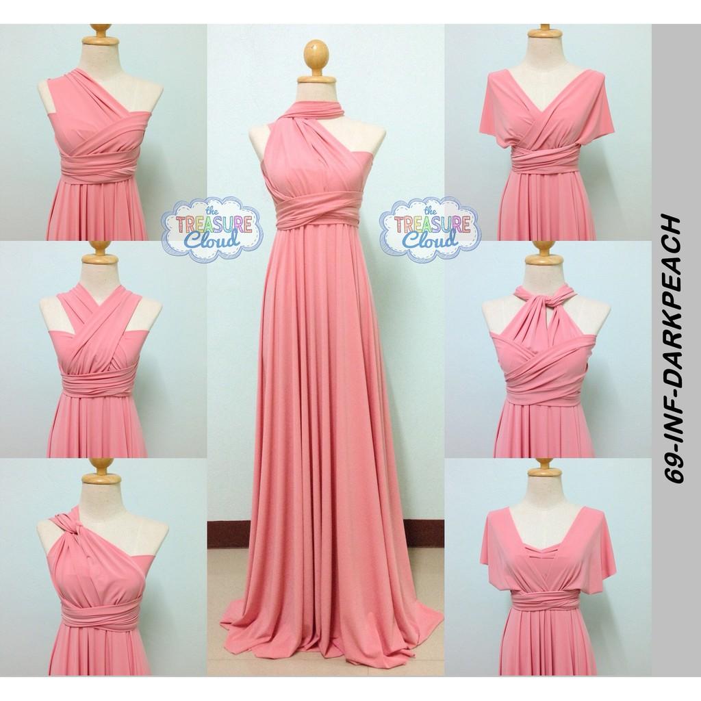 peach infinity dress