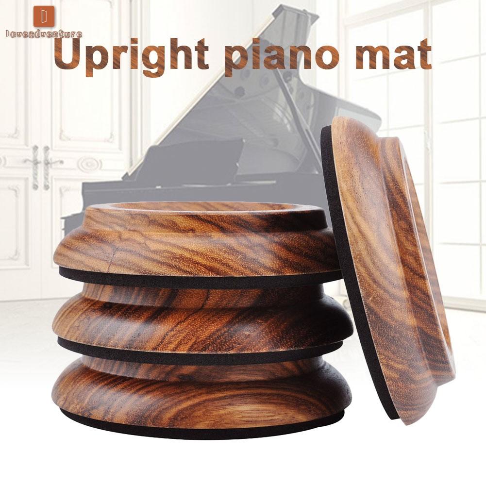 Lv 4pcs Hardwood Furniture Caster Cups