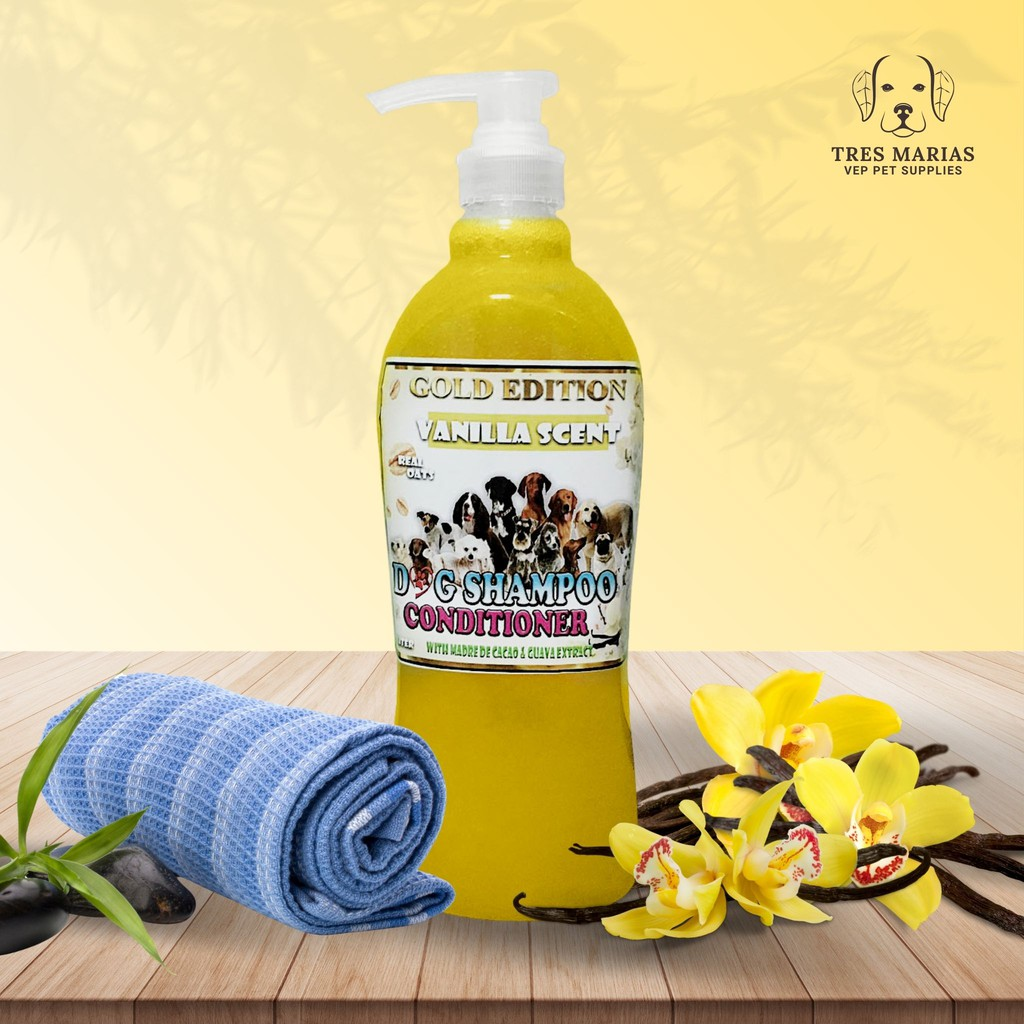 Dog Shampoo Conditioner With Madre De Cacao Guava Extract Vanilla Scent With Real Oats Shopee Philippines