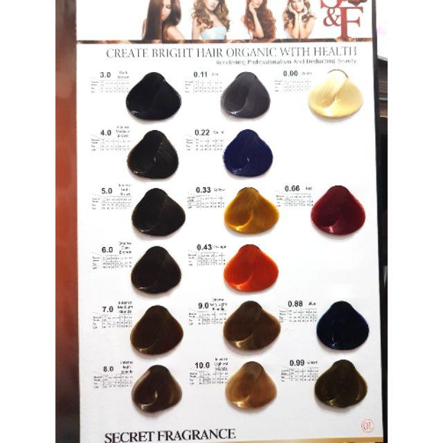 Secret Fragrance Hair Color Chart