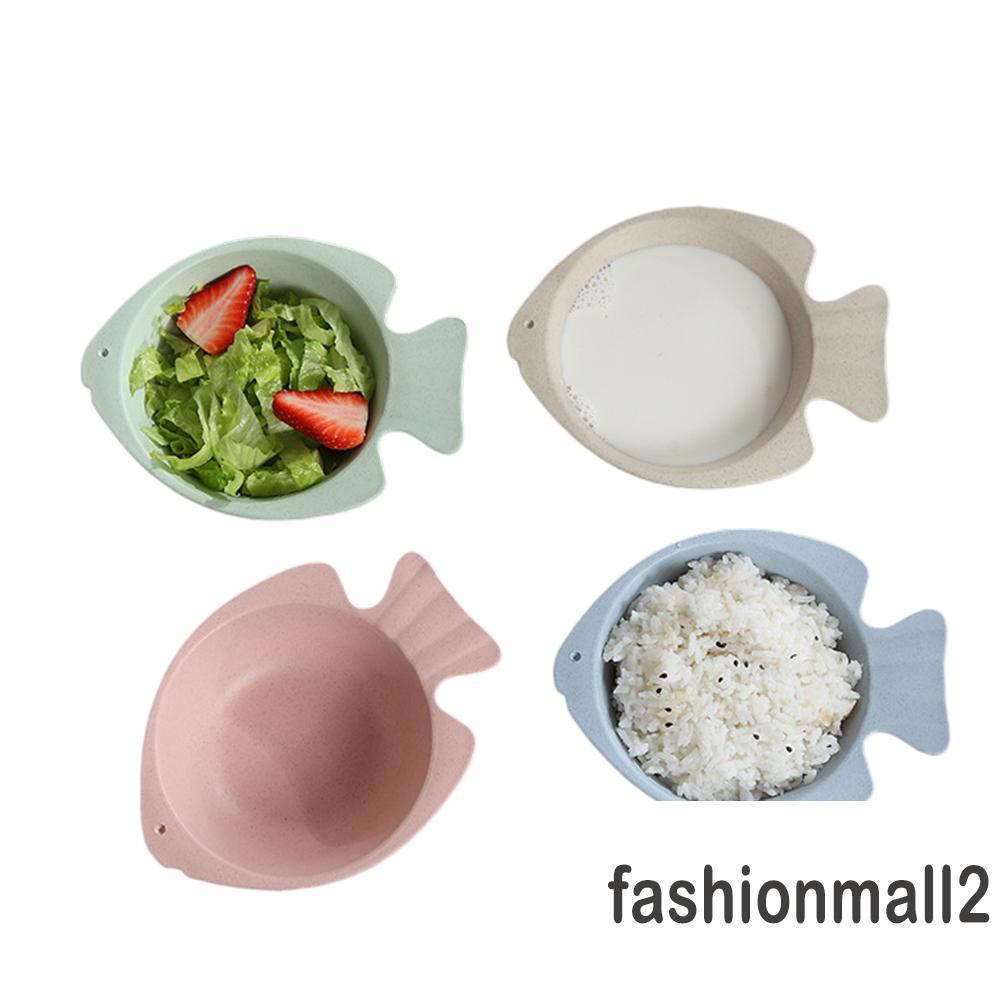 Baby Wheat Stalk Solid Food Cute Bowl Spoon Set Unbreak Anti Scald Tableware