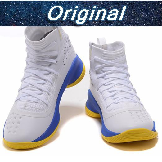 "hot sales 59ee5 ff3a6 Under Armour Curry 4 w/ FREE Socks"" (OEM-Premium Quality) RE"