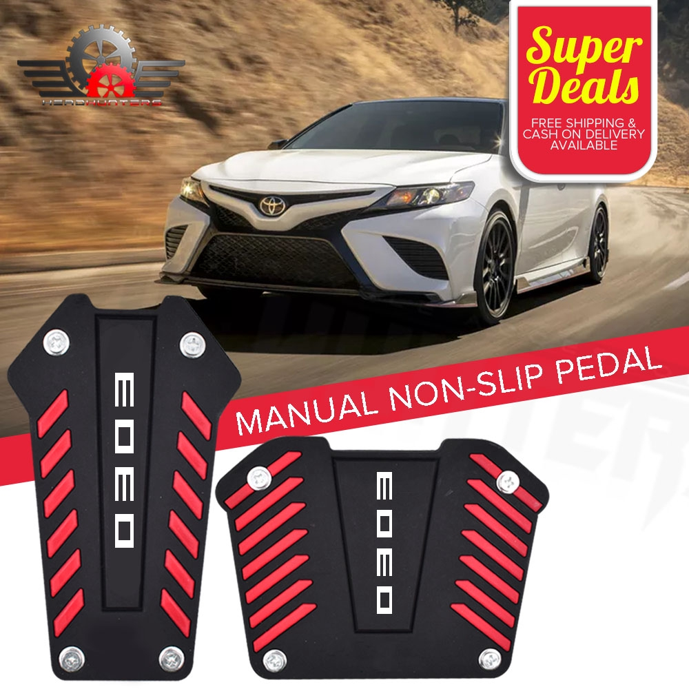 3X//1 Set Manual Gear Transmission Pedals Pads Car Gas Brake Pedal Non-Slip Cover