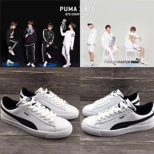 lowest price 48c18 15820 PUMA × BTS COURT STAR boys black and white men a