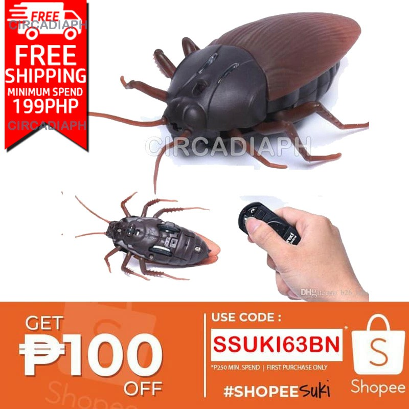 Remote Control Giant Cockroach Prank Toy