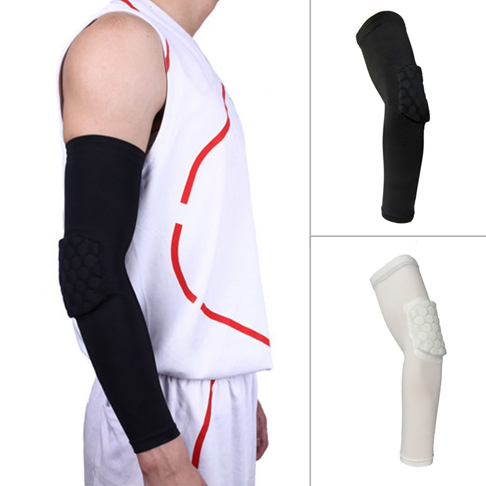 Men's Accessories Apparel Accessories Dynamic Breathable Football Safety Sport Elbow Pad Brace Protector Basketball Arm Sleeve Honeycomb Armband Elbow Support Arm Sleeve