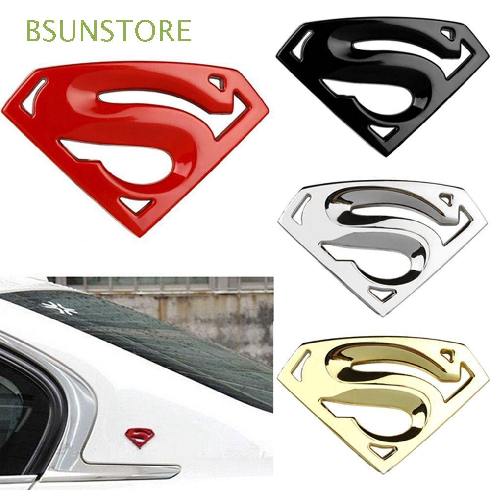 Metal Chrome Superman Logo Badge Trunk Emblem Decal Sticker Car Motorcycle Tank
