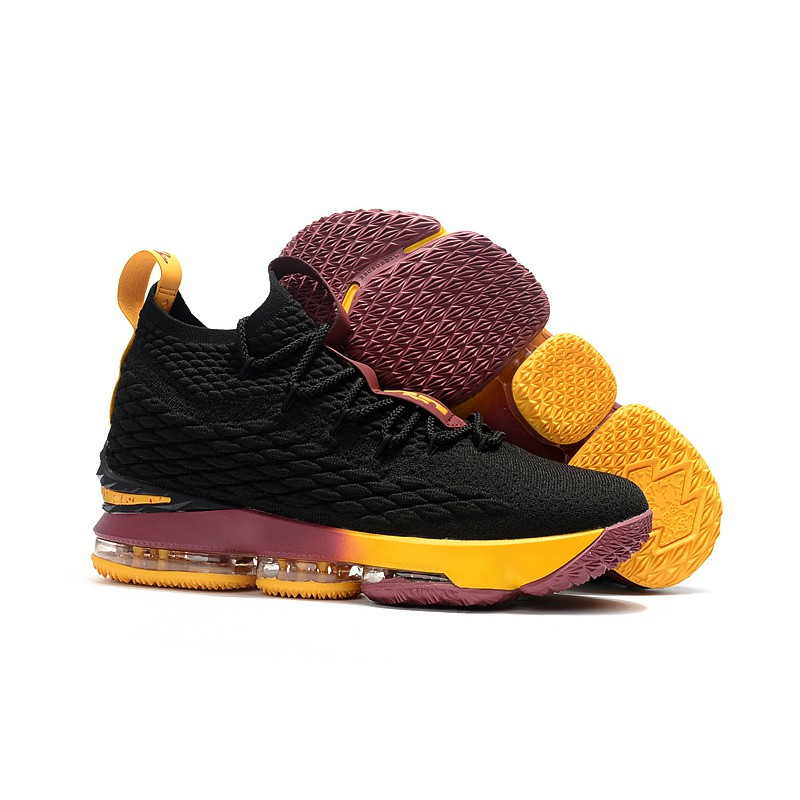 d3d9f58123e1 Nike LeBron 15 Lakers Purple Yellow Mens Basketball Shoes