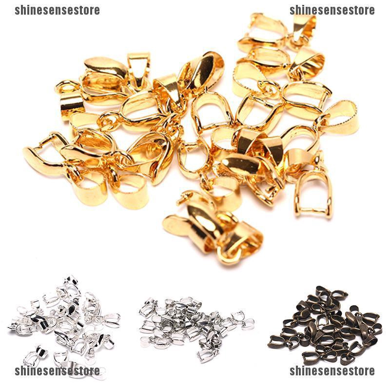 20x Silver /& Gold Bail Bale Pinch Clasp For Pendant Connectors Accessory HOT