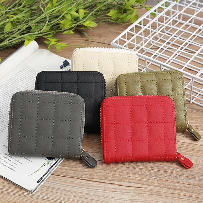 Portefeuille Unisexe Canvas Coin Purse Mini Wallet Zipper Storage Bag