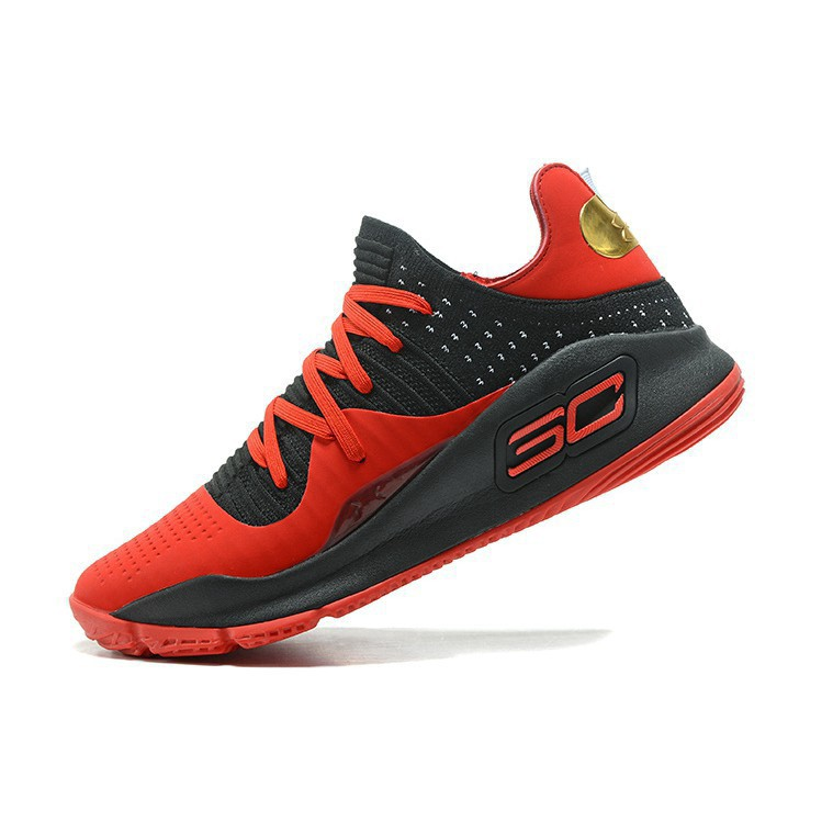 super popular 4aee0 34d2b Under Armour Curry 4 Low Red Black
