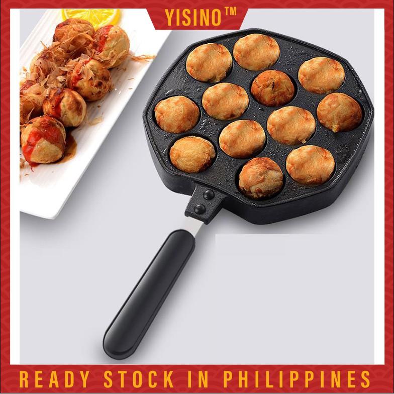 12 Holes Takoyaki Pan Maker Chibi Maruko Baking Mold Pan