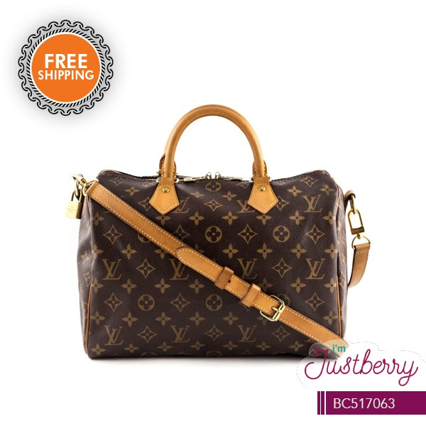 b01d46c61728 Overrun Louis Vuitton Speedy 30 Monogram Canvas Hand Bag