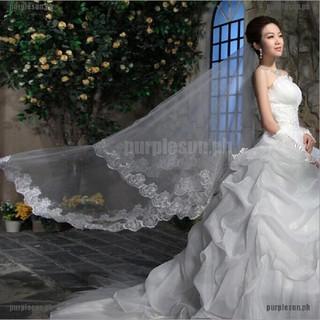 80CM//300CM Lacework Graceful Flower Edge Mantilla Wedding Part Dress  OJ