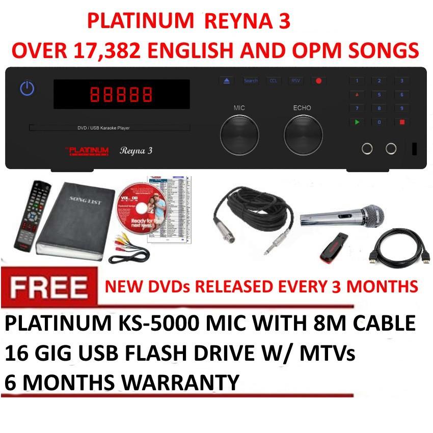 Platinum Reyna 3 DVD Karaoke Player with 18000 Songs