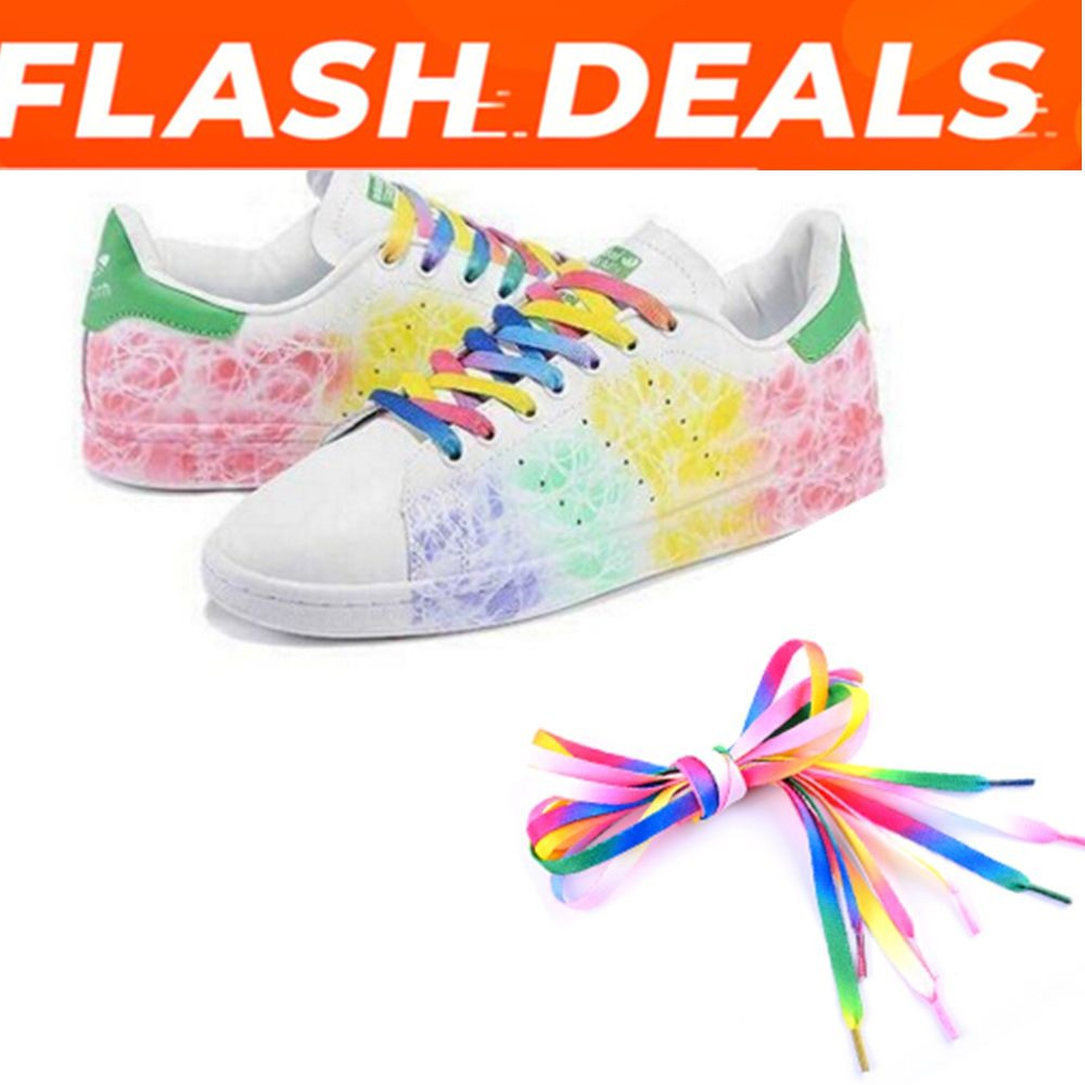 Rainbow Athletic Sport Sneaker Shoelace Flat Bootlaces Shoelaces Strings Laces``