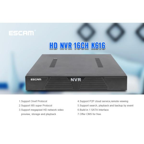 ESCAM MINI NVR K616 1080P Network Video Recorder H 264 HDMI VGA Video Output